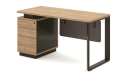 small office desk with drawers and lock