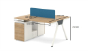 Kano Two Seater Workstation With Storage