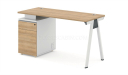 single seater workstation with with storage pedestal