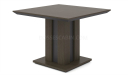 square meeting table in dark brown finish