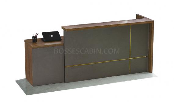 8 feet reception table in walnut finish