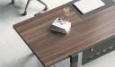 desk top in walnut laminate finish