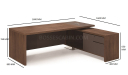 Miro Office Table In Walnut