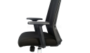 black office chair with adjustable armrests