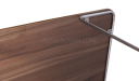 bottom view of walnut top coffee table
