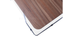 walnut top coffee table with steel legs