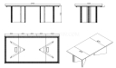 shop drawing of 8 feet meeting table