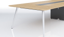 modern meeting table in light wood finish