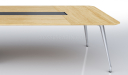 meeting table in light oak wood