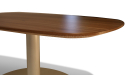 coffee table with walnut finish top