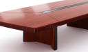 conference table in rich walnut wood finish