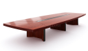large conference table in red walnut finish