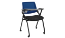 classroom chair with writing pad and castors