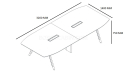 shop drawing of Lipa 11 feet 12 seater meeting table