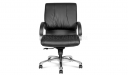 executive chair in black leather