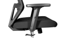 black adjustable armrests