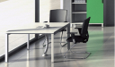 E-Half Square Meeting Table with Wirebox : BCCH-21N
