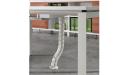 white tabletop, white legs and snake tube