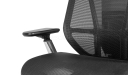 black mesh office chair with 3d armrests