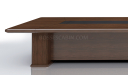 'Royale' 22 Feet Boardroom Table In Sapele Veneer