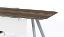 office table walnut finish desktop