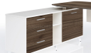 'Lipa' 6 Feet Desk With Walnut Laminate Top