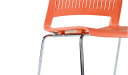 'Magna' Stackable Plastic Chair With Chrome Legs