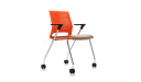 'Magna' Plastic Chair With Chrome Arms & Legs