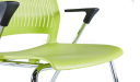 'Magna' Plastic Chair With Chrome Frame & Castors