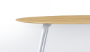 'Varna' 7 Feet Oval Shape Meeting Table in Light Oak