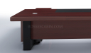 'Metro' 12 Feet Curved Top Large Office Desk