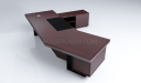 'Metro' Curved Top Large Office Desk