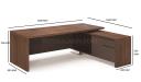 Miro Office Table In Walnut