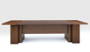 'Miro' 10 Feet Conference Table In King Walnut Laminate