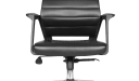 Astra Office Chair In Black Artificial Leather