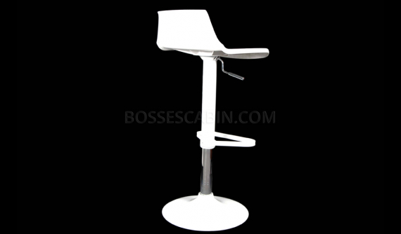 sleek bar stool in white