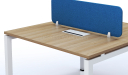 'Virgo' 2 Seater Workstation In Light Wood
